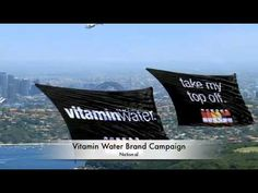 Different helicopter banners Branding By Air has flown over the years