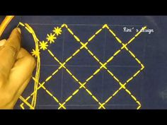 Nakshi kantha design drawing & embroidery tutorial,নকশীকাঁথা সেলাই করার নিয়ম,আধুনিক নকশীকাঁথা নকশা - YouTube Kasuti Embroidery, Hand Embroidery Videos, Embroidery Stitches Tutorial, Embroidery Flowers Pattern, Embroidery On Clothes, Embroidery Patterns Free, Embroidery Techniques, Simple Embroidery Designs, Bordados E Cia
