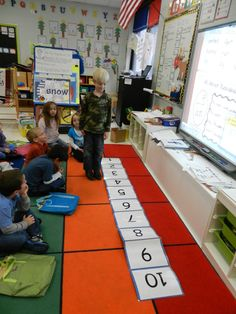 This is a great way to show a number line. I actually just finished discussing exposing a number line in this way because it could be hard for Elementary students especially to understand a number line.