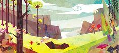 Ping Hua Chou Illustration: Environmental settings - Hyunjung Yun's animation project My Joshua