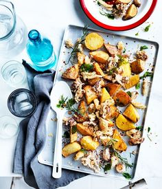 Fried squid and potato with chilli and garlic recipe :: Gourmet Traveller