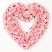 $76.  Glenna Jean Rosebud Heart Wreath