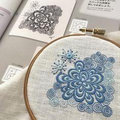 #ゼンタングル #embroidery #刺繍 #ハンドメイド #手仕事 #ゼンタングル刺繍