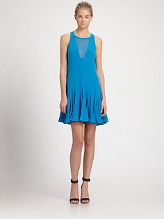 Rebecca Taylor - Godet Silk Dress - Saks.com