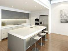 Modern open plan kitchen design using laminate - Kitchen Photo 172436