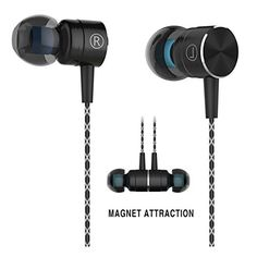 Attraction #Earphones with Mic and Volume Control. High sound quality With In-Ear design and passive noise isolation, Dynamic Deep bass and high resolution treble sound, Resistant to Sweat and Water Damage.