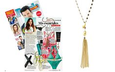 People En Espanol - July 2014 featuring the Gitane Tassel Necklace-Gold by Stella & Dot  Get yours at www.stelladot.com/sarahtaliaferro