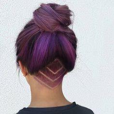 Amazing purple undercut with top bun by @playwithscissors! #hair #haircolour #haircolor #hairinspo #undercutgirls #undercut #undercuts #hairtattoo #hairtattoos #purplehair #festivalready #festivalstyle #festivalhair #pastelhair #beautifulhair #hairdo #hairbun #hairstyles #hairstyle #hairstylist #colorfulhair #color #hairlook #hairlove #instahair #violeta #purple #peinado #peinados Featured by: #isaprofessional