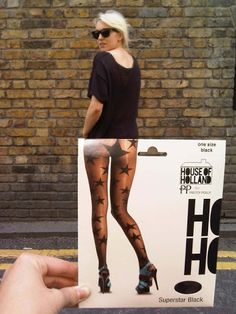 House Of Holland Star Pantyhose. Very sexy