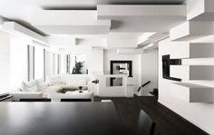 Black and White Apartment Interior Design Ideas from Pascal Grasso – Home Design White House Interior, White Interior Design, Apartment Interior Design, Home Interior, Interior Design Living Room, Living Room Designs, Design Interiors, Monochrome Interior, Monochrome Color