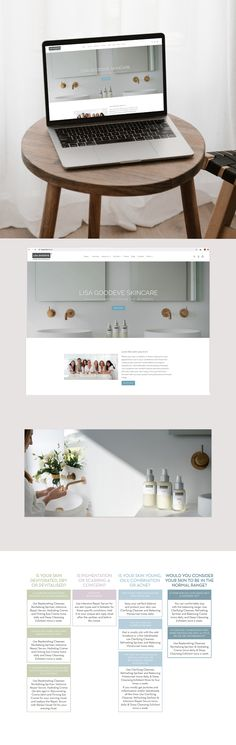 Custom design for Lisa Goodeve Skincare, Shopify Website Makeover by Case In Point Design Studio. Custom Design, Lisa, Skincare, Branding, Website, Studio, Skincare Routine, Skin Treatments, Studios