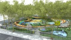 In a Brooklyn Park Design, Movable Parts at Play - The New York Times