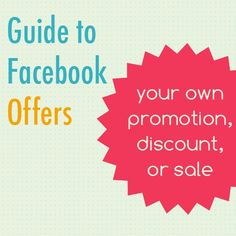 Check out our guide for creating great offers on Facebook!