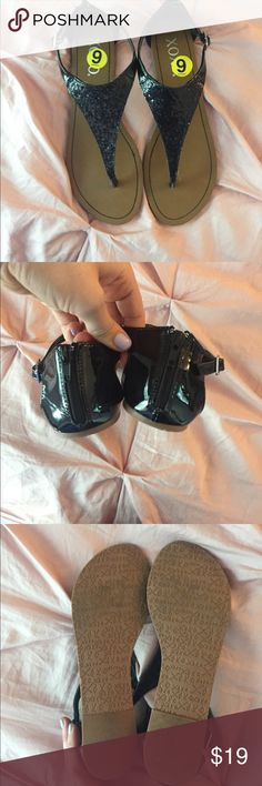 Sparkly sandals Black sparkly sandals only worn once!! Shoes Sandals
