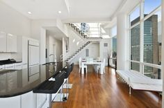 Eat in kitchen and dining room with a great city view #kitchen #luxuryhome #NYC #homedecor #dreamhome