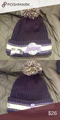 702a72b7e65 NE LA lakers hat Chunky kint Lakers hat New era another one of them warm  hats for cold days and night s. New Era Accessories Hats