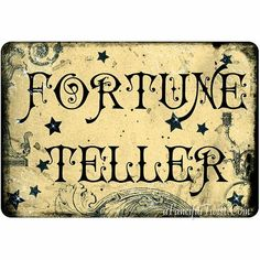 Fortune Teller print