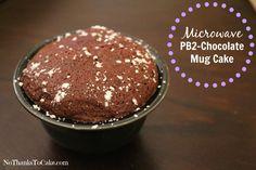 Microwave PB2 – Chocolate Mug Cake - No Thanks to Cake