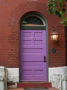 Purple Door, Red Brick Arch, L'Enfant Trust Easement, 623: Capitol Hill (Washington, DC)