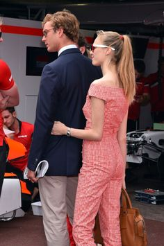 Pierre Casiraghi, Beatrice Borromeo, grand prix, 2015, May 2015,