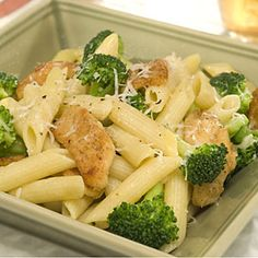 Penne with Chicken  Broccoli Recipe spells quick and simple and...mmmmmmm