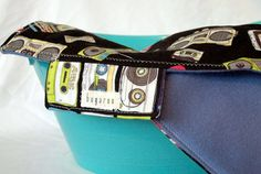 @Bugaroo Boutique Roll-Up Changing Mat with Retro Boombox Fabric - SOLD