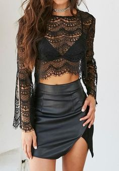 a9860f620c43e blouse girl girly girly wishlist crop crop tops cropped lace lace top lace  blouses black see through sheer
