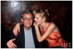 1996 Helmut Newton and Eva Herzigova at Elaine's Dave Allocca. From Life.