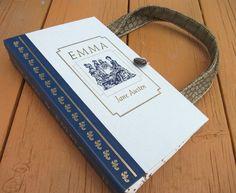 Book Purse Jane Austen Emma Book Handbag by retrograndma on Etsy