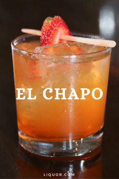 Your New Favorite Gin Drink is Named for El Chapo This gin cocktail is the perfect summer cocktail. It's a simple and easy to make refreshing drink that's delicious and perfect for any party. Bar Drinks, Cocktail Drinks, Cocktail Recipes, Manly Cocktails, Beverages, Strawberry Cocktails, Strawberry Wine, Tequila Sunrise, Refreshing Drinks