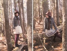 October, of October Rebel, gets lost in the woods in style in our BB Dakota cream lace dress.