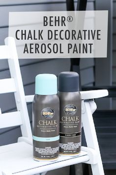 Take your front porch from drab and dreary to bright and colorful with this DIY home makeover project from Andrea, of Salty Canary. Her secret? BEHR® Chalk Decorative Aerosol Paint! It offers offers great coverage over new or previously coated surfaces, beautifully vibrant colors, and doesn't require primer—making this tutorial great for beginners! Click to learn more about this easy outdoor refresh.