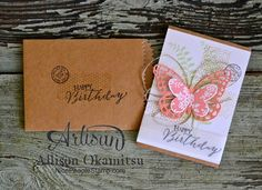 nice people STAMP!: January Stamp Club: Butterfly Basics Notecard