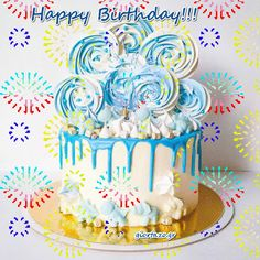 Birthday Cake Animated Image Funny Happy Birthday Messages, Happy Birthday Wishes For A Friend, Happy Birthday For Him, Happy Birthday Cake Images, Happy Birthday Wishes Images, Happy Birthday Video, Happy Birthday Greeting Card, Birthday Gifs, Birthday Quotes