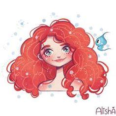 Ideas For Drawing Disney Art Merida Disney Drawings, Cartoon Drawings, Cute Drawings, Drawing Disney, Disney Princess Art, Disney Fan Art, Arte Disney, Disney Pixar, Kawaii Disney