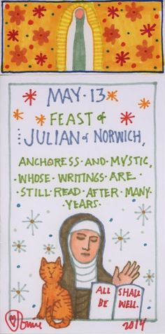 Julian of Norwich by Tomie dePaola. From the Official Tomie dePaola Blog