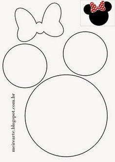 .::Meire Arte: Molde Cabeça da Minnie