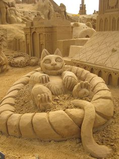 sand sculpture  ..#cat