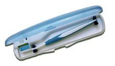 Higienizador para escova dental Ideal para ser transportado no dia a dia, o aparelho utiliza tecnologia ultravioleta como germicida.