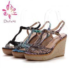 Daphne 2014 New Design Women Shoes Casual Wedge Sandal - Blue Products- - TopBuy.com.au