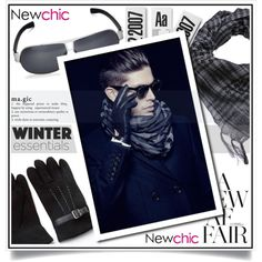 Newchic - Winter Men VII/2 by ewa-naukowicz-wojcik on Polyvore featuring men's fashion and menswear