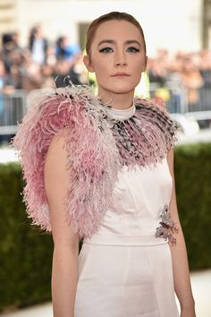 Actress Saoirse Ronan attends the 'Manus x Machina Fashion In An Age Of Technology' Costume Institute Gala at Metropolitan Museum of Art on May 2...