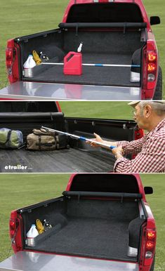 You get an EZ-Retriever pole that helps you to grab hard-to-reach items in your bed and 2 Truck Camping, Diy Camping, Jeep Truck, Mini Trucks, 4x4 Trucks, Cool Trucks, Ford Bronco, Truck Bed Storage, Truck Bed Organizer