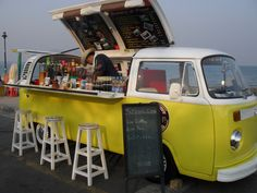 Mobile cafe in a VW bus