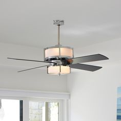 Upscale Modern Ceiling Fan - 2 Finishes