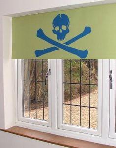Pirate Children's Blackout Roller Blind 4ft Green: Amazon.co.uk: Kitchen & Home