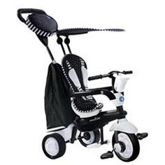 Smart trike's 4 in 1 tricycle designed for babies from 10 months that grows with the child and gives added value! with the lightest touch spark maneuvers like a stroller.