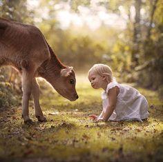 Kids and Animals – Les adorables photographies d'Elena Shumilova (image)