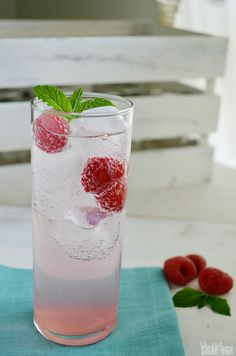 Raspberry Sparkling Water: Try this delicious drink featuring club soda, raspberries and raspberry simple syrup. Great alternative to soda with a splash of fruit flavor!
