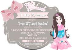 Certificados Reto Handmade Agosto + Sorteo - Little Kimono Handmade ❣